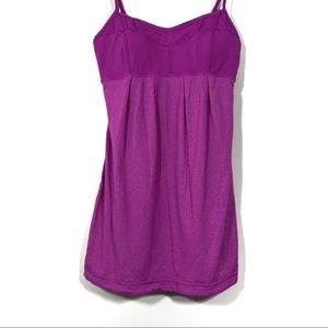 Lululemon Adjustable Strap Built in Bra Tank Top